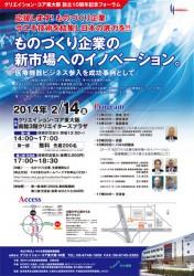 東大阪クリエイションコア10周年シンポジウム2014年2月14日 二九良三 二九精密機械工業