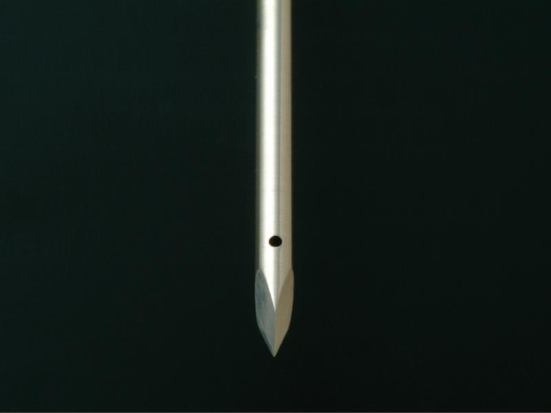パイプ針先加工+先端穴あけ 二九精密機械工業