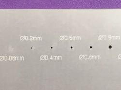 55×90mm板 t=1.0 レーザーカット 二九精密