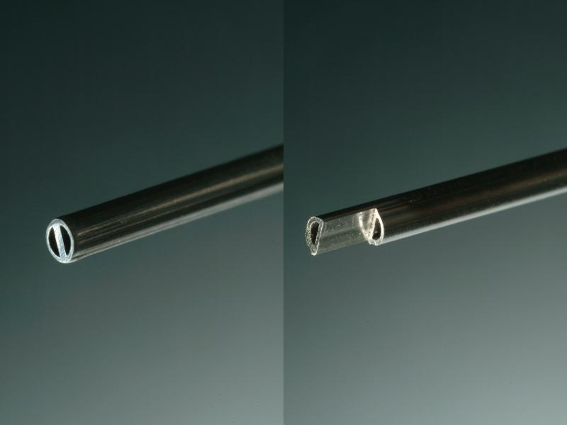 2本の半月型パイプをレーザー溶接 二九精密